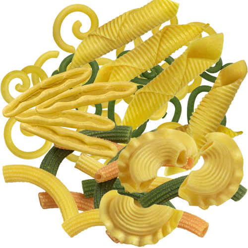 Egg short pasta pieces